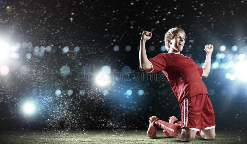 Meta del fútbol fotos de archivo libres de regalías