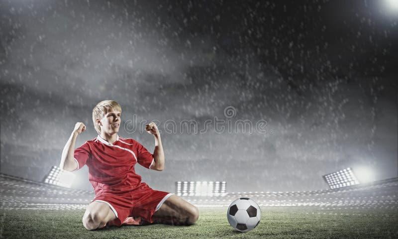 Meta del fútbol foto de archivo libre de regalías