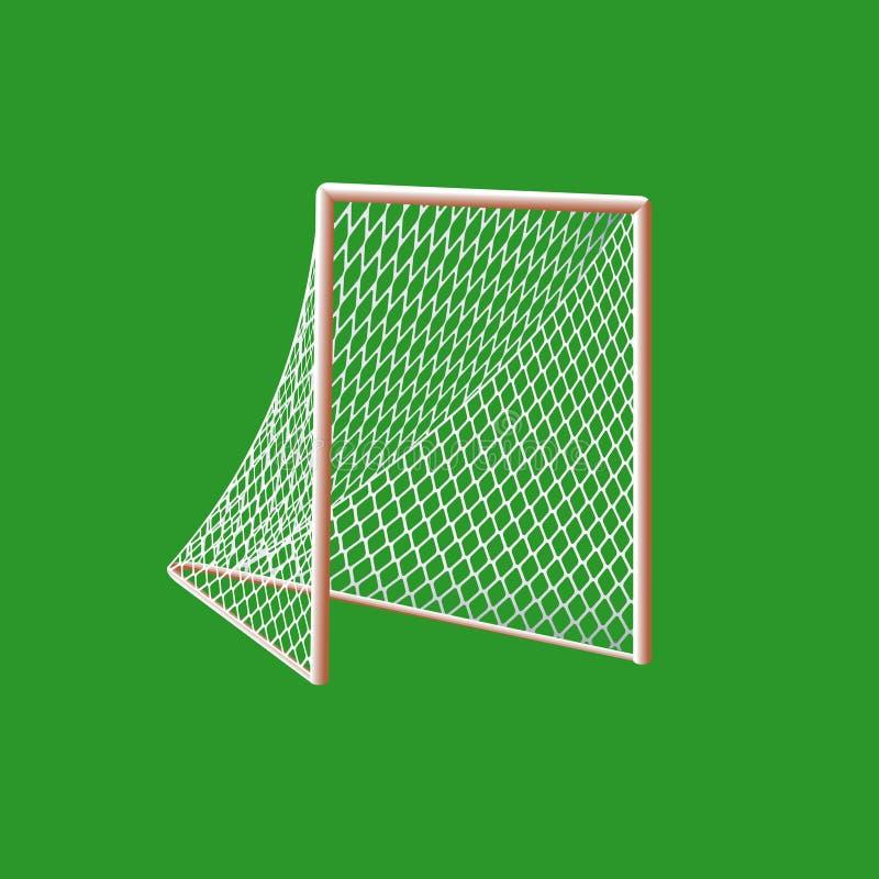 Meta del lacrosse. ilustración del vector