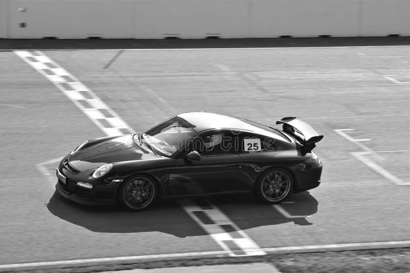 Meta exótico do cruzamento de Sportscar da pista fotografia de stock royalty free