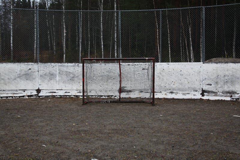 Meta vacía del hockey sobre hielo imagenes de archivo