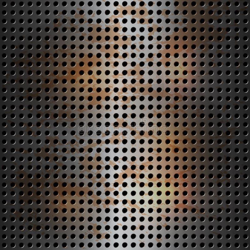 Metaal achtergrond stock illustratie