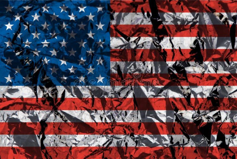 Metaal Amerikaanse vlag stock afbeelding