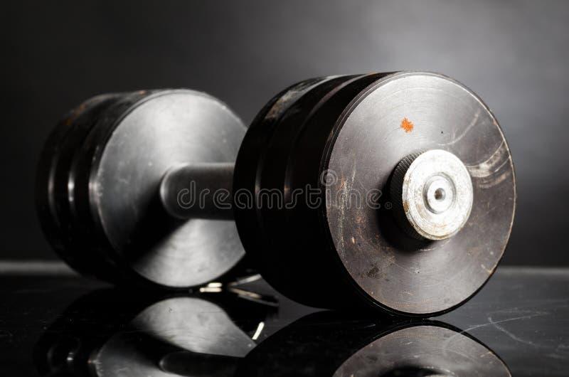 Metaal barbell royalty-vrije stock afbeeldingen