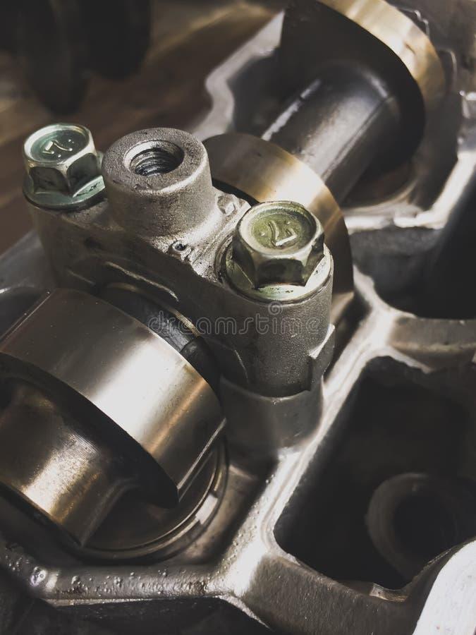 Metaal binnen de motor stock afbeeldingen