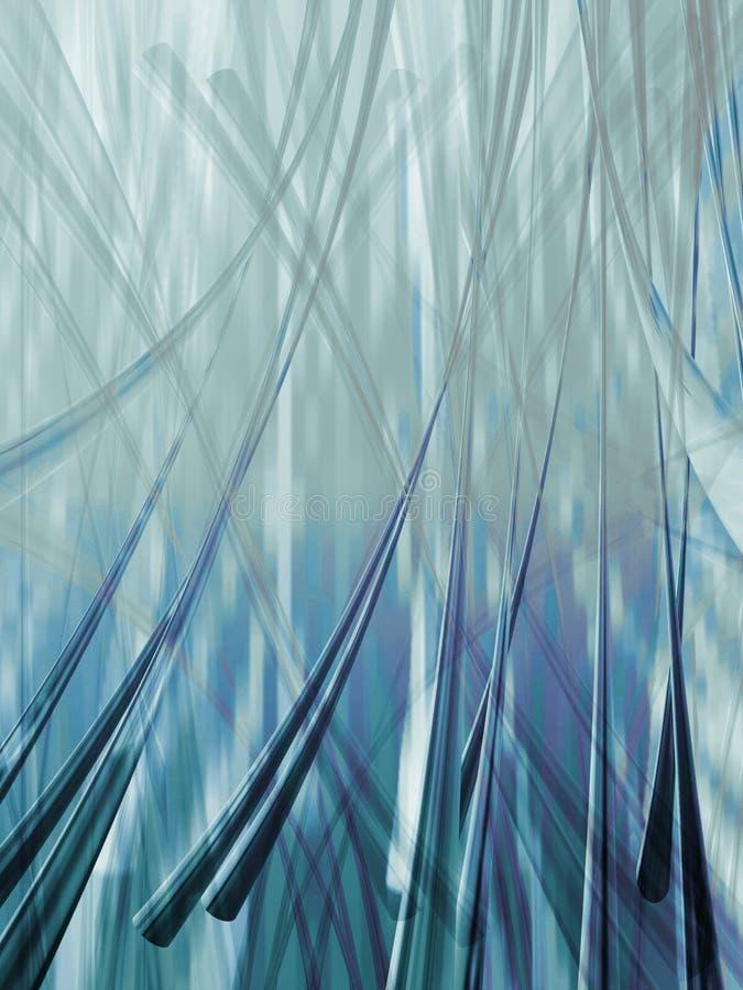 Metaal blauw royalty-vrije illustratie