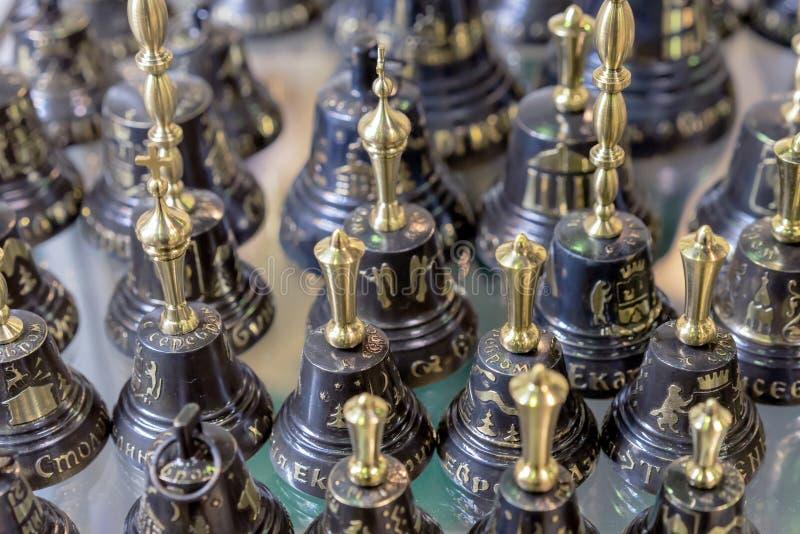 Metaal decoratieve klokken met een gouden handvat royalty-vrije stock foto's