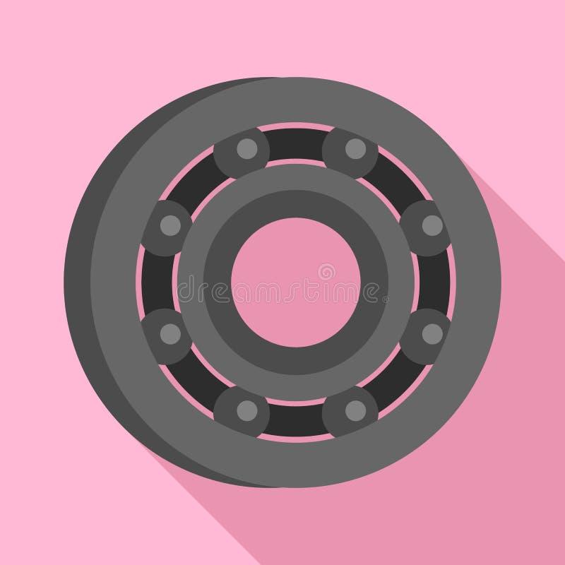 Metaal dragend pictogram, vlakke stijl vector illustratie