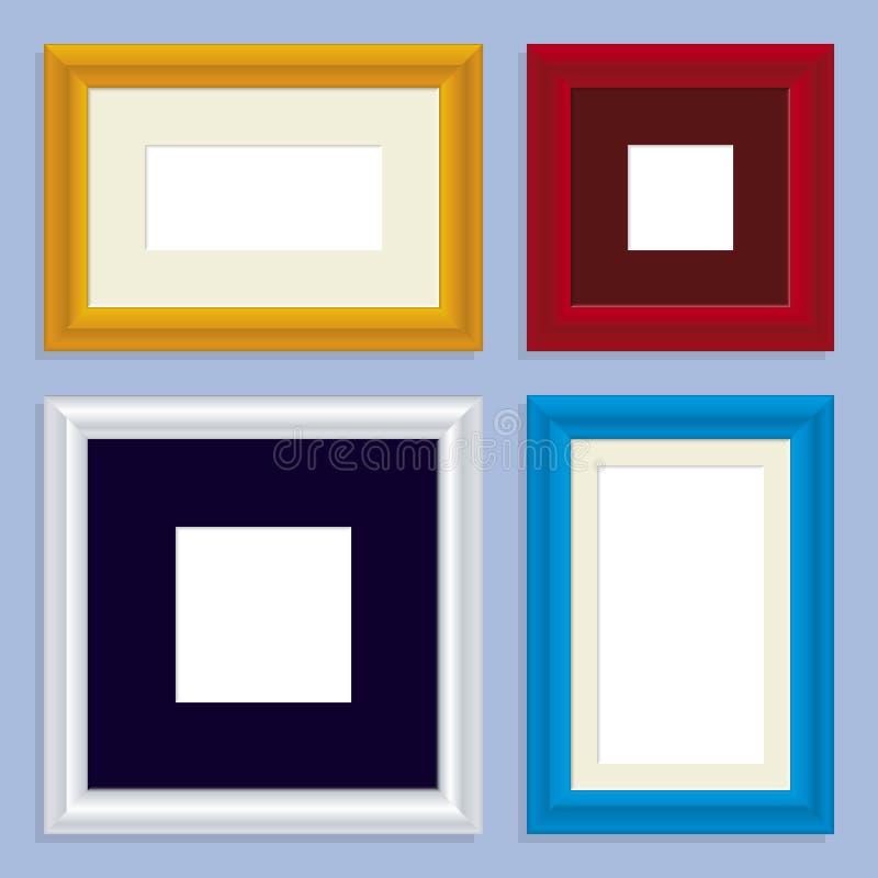 Metaal frames (vector) stock illustratie