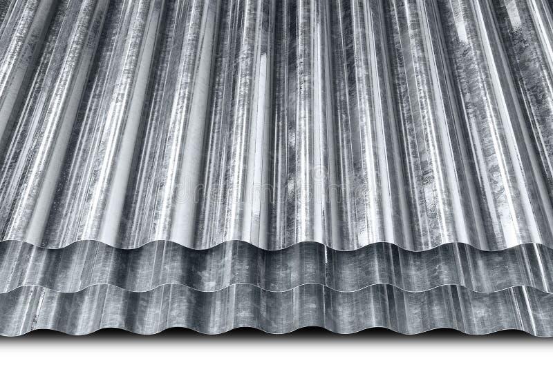 Metaal gegalvaniseerd blad royalty-vrije stock foto's