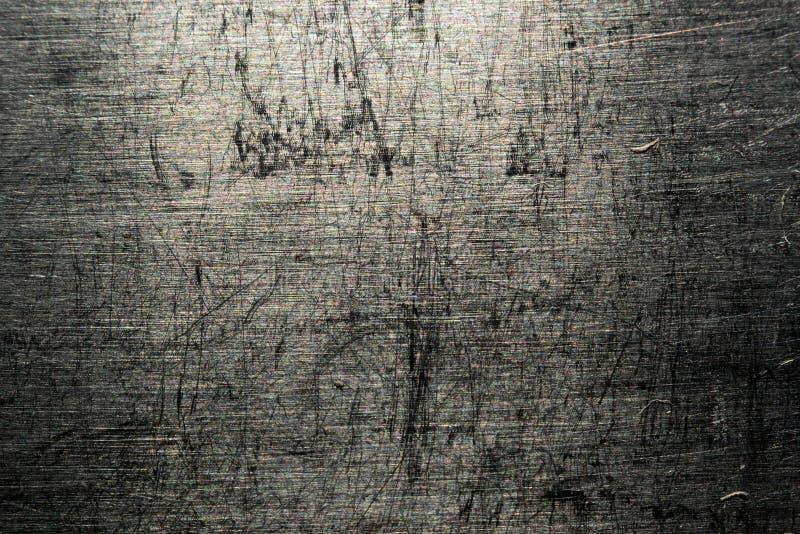 Metaal gekraste textuurmacro royalty-vrije stock afbeelding