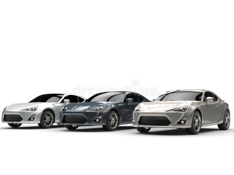 Metaal generische sportwagens royalty-vrije illustratie