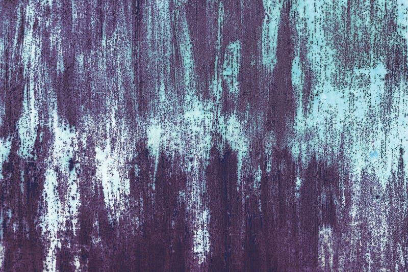 Metaal geschilderde textuur De Abstracte Achtergrond van Grunge Sjofele oppervlakte stock foto