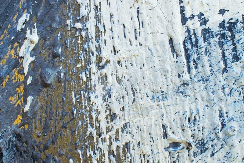 Metaal geschilderde textuurmuur royalty-vrije stock foto