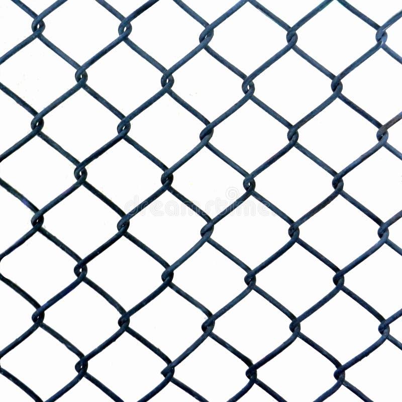 Metaal geweven netwerk op een witte achtergrond, fototextuur stock fotografie