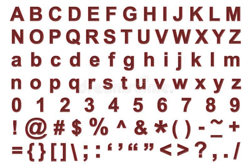 Metaal grunge alfabet royalty-vrije illustratie