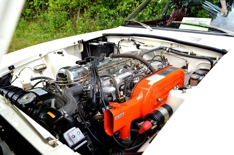 Metaal Japanse spiermotor van een auto royalty-vrije stock afbeeldingen