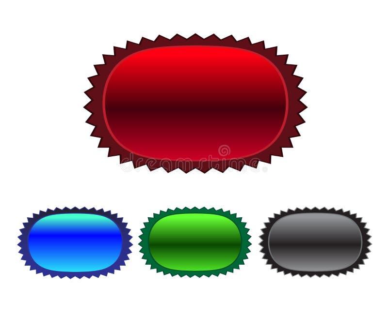 Metaal kenteken stock illustratie