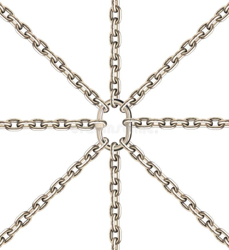Metaal kettingen en ronde royalty-vrije stock afbeeldingen
