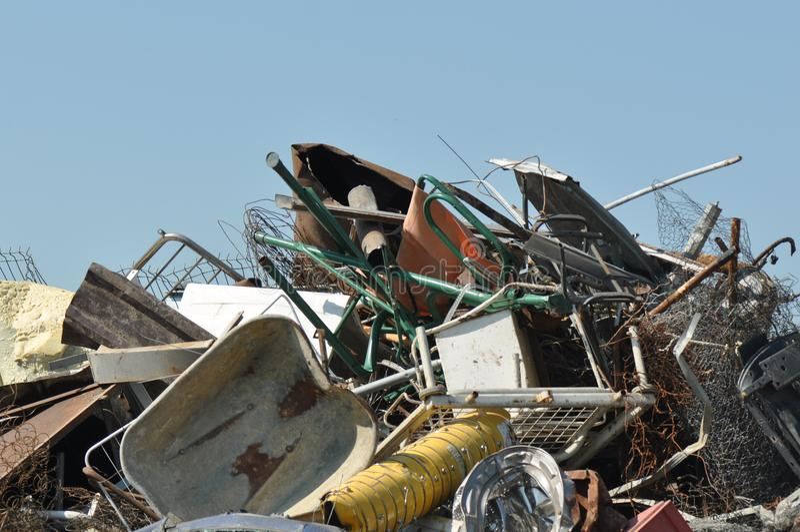 Metaal Klaar voor Recycling royalty-vrije stock foto