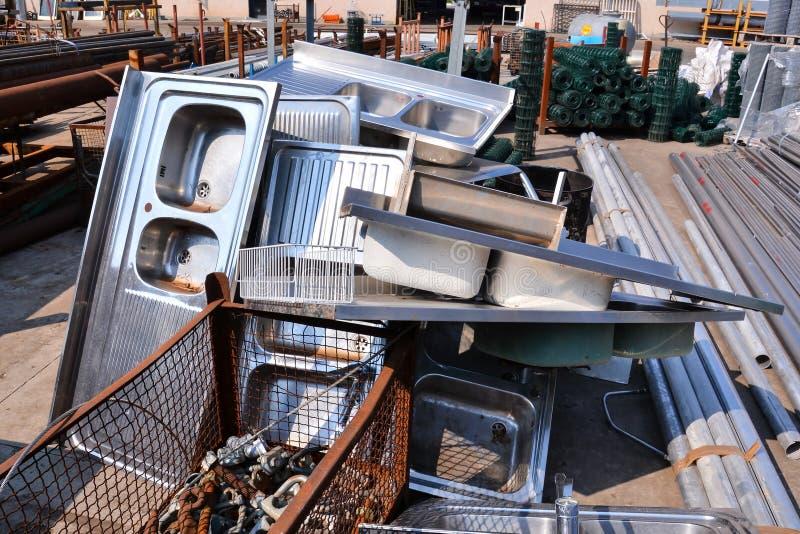 Metaal Klaar voor Recycling royalty-vrije stock afbeeldingen