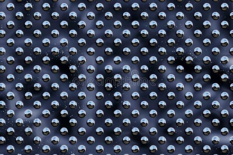 Metaal om punten - zwarte stock illustratie