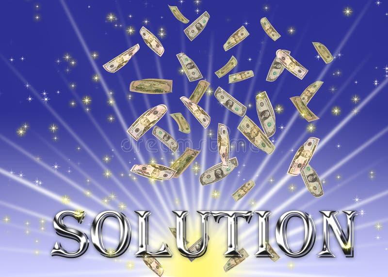 Metaal oplossingstekst. stock illustratie