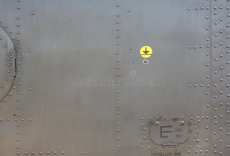 Metaal oppervlak van militair gepantserd royalty-vrije stock fotografie