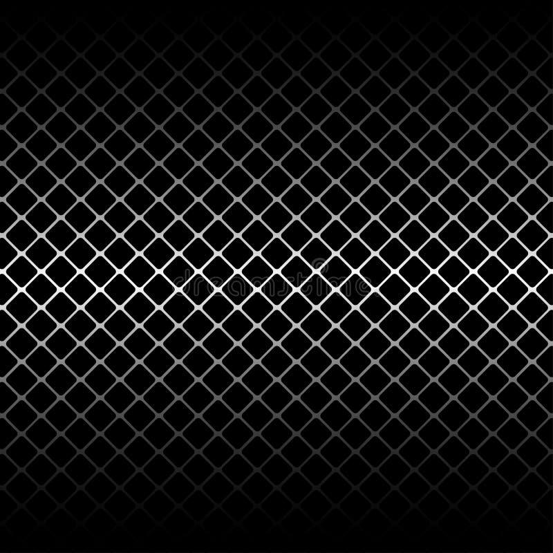 Metaal rond gemaakte vierkante opening op zwarte vector als achtergrond vector illustratie