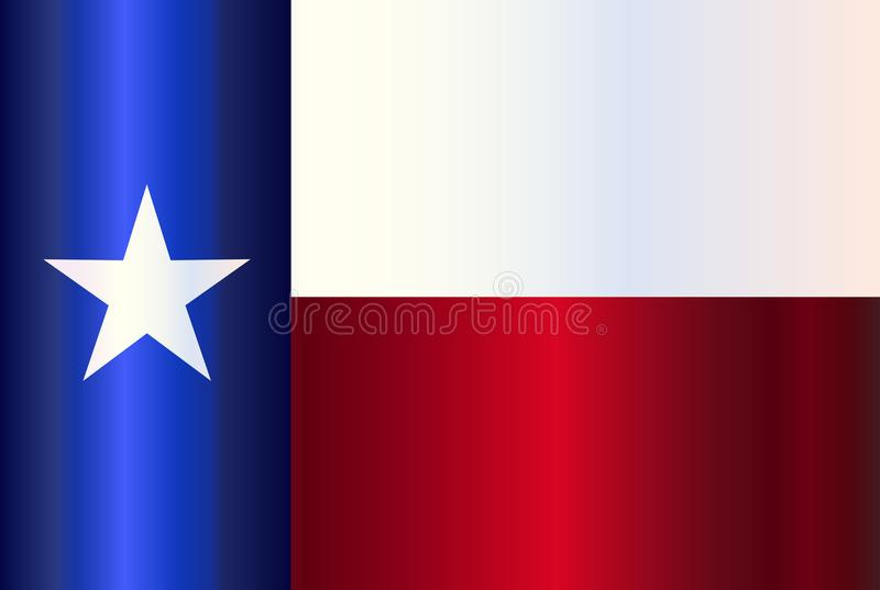 Metaal Texas State Flag vector illustratie