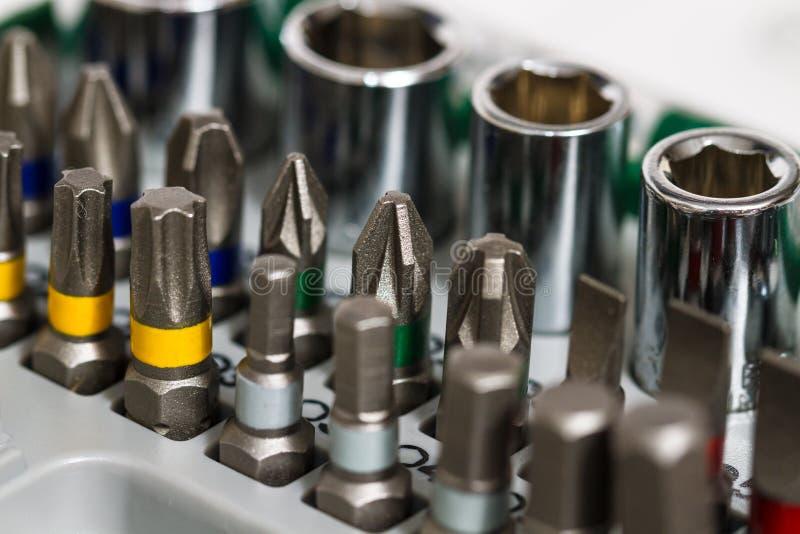 Metaal werkende hulpmiddelen, metaalbewerking stock afbeelding