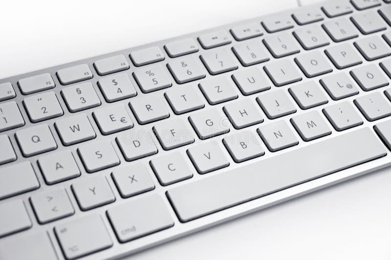 Metaal zilveren toetsenbord stock afbeeldingen