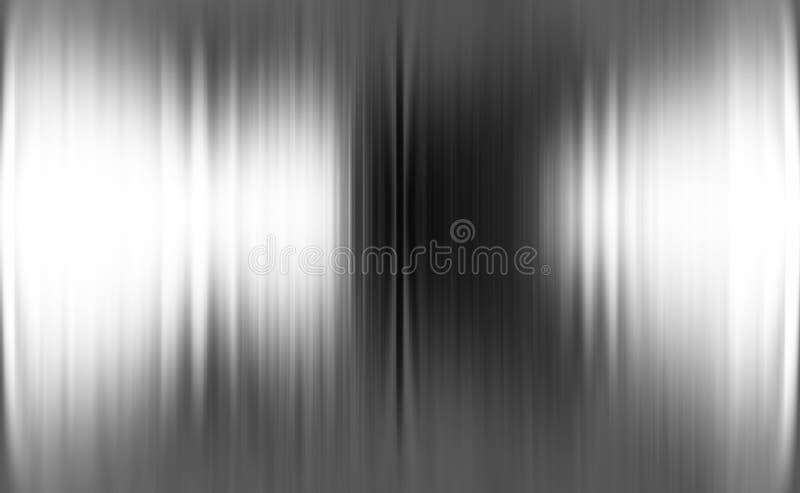Metaalachtergrond of textuur van geborstelde staalplaat stock illustratie