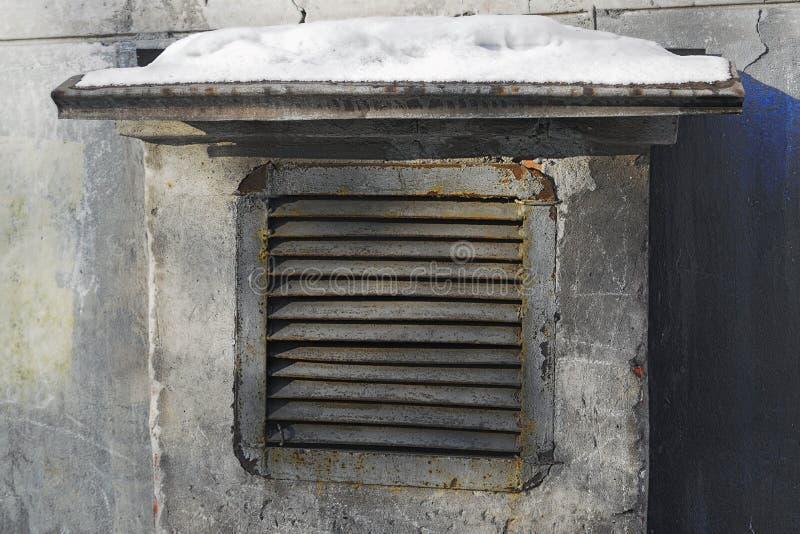 Metaalblinden voor de ventilatieschacht royalty-vrije stock foto