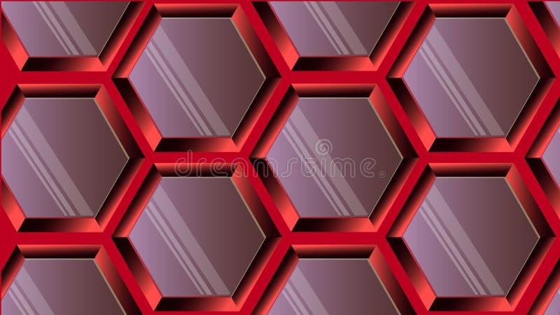 Metaalcellen Modieuze achtergrond royalty-vrije illustratie