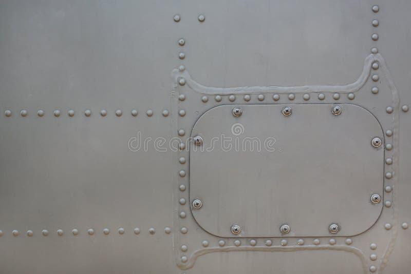 Metaaloppervlakte van militaire Gepantserd met dekking stock foto's