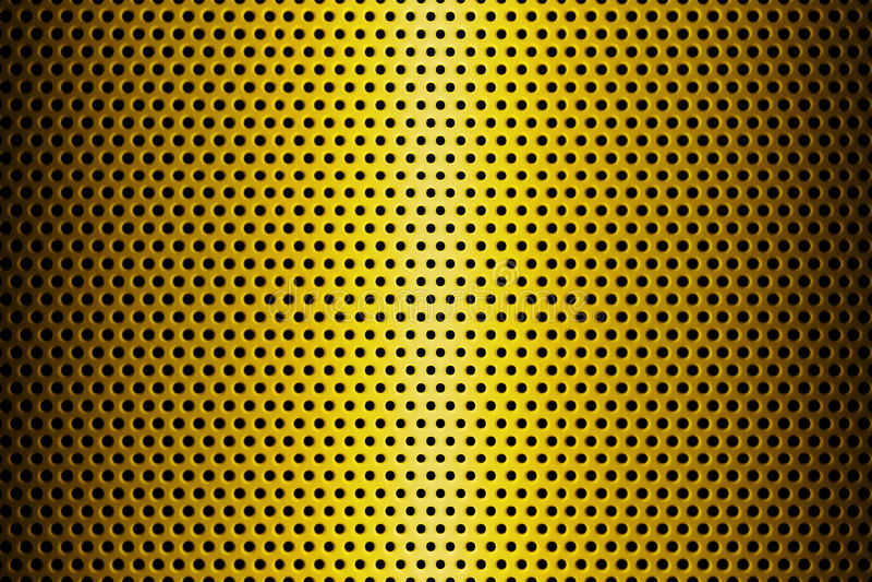 Metaalplaat met Lijnen van Cirkelgaten wordt behandeld dat het 3d teruggeven royalty-vrije illustratie