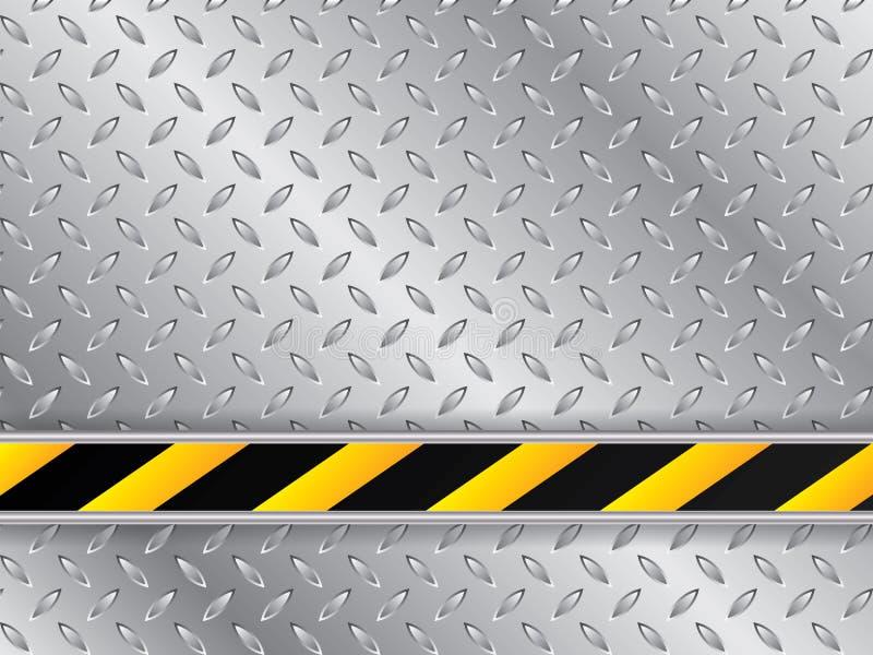 Metaalplaatachtergrond met gestreepte industriële lijn stock illustratie