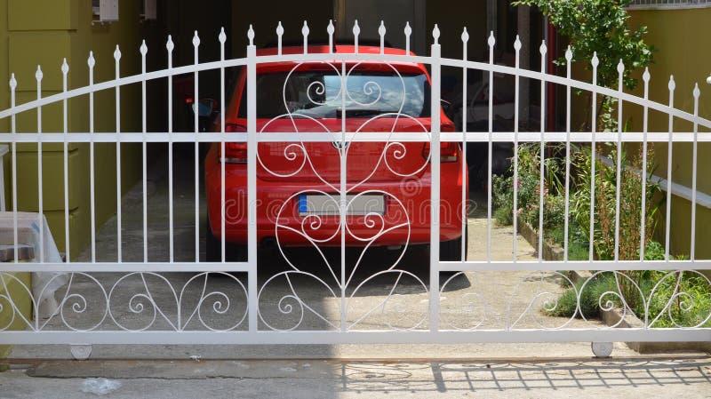 Metaalpoort van privé garage royalty-vrije stock foto