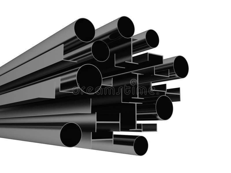 Metaalprofiel op witte achtergrond vector illustratie