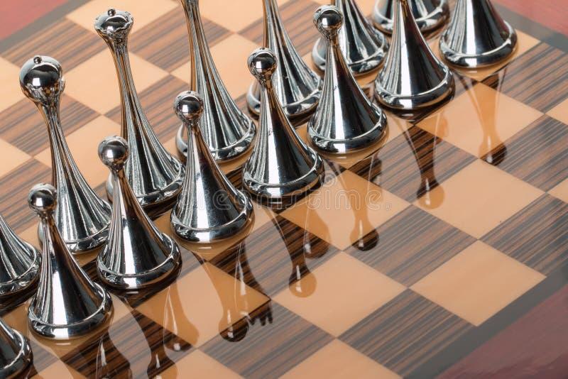 Metaalschaak stock foto