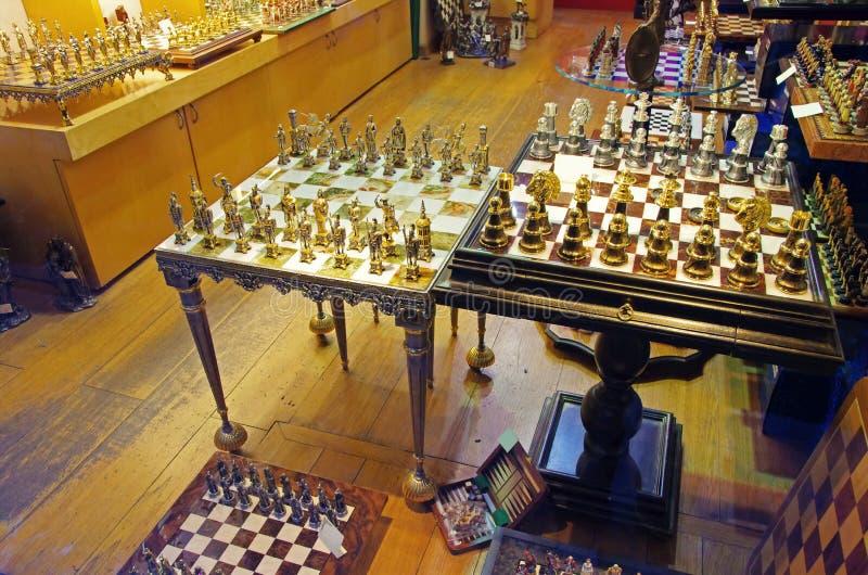 Metaalschaak royalty-vrije stock fotografie