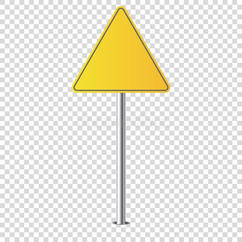 Metaalverkeersteken geïsoleerde spatie voor u vector illustratie