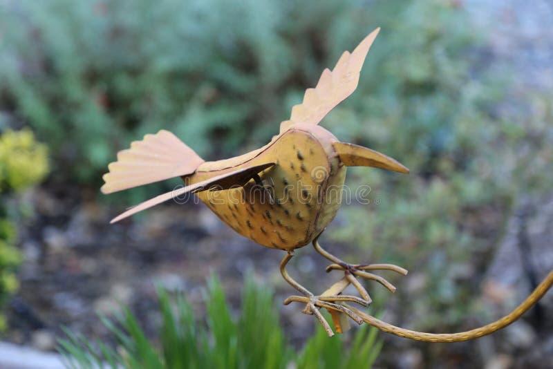Metaalvogel royalty-vrije stock fotografie