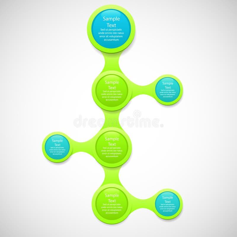 Metaball diagrama kolorowy round infographics royalty ilustracja