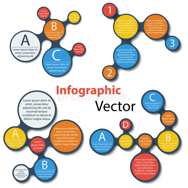 Metaball infographic elementy ustawiający na bielu ilustracji