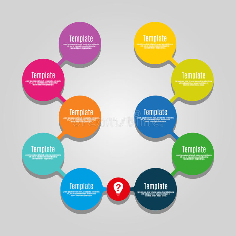Metaball kleurrijk rond diagram royalty-vrije illustratie