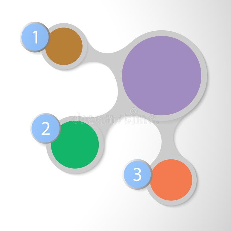 Metaball kleurrijke infographics voor presentaties stock illustratie