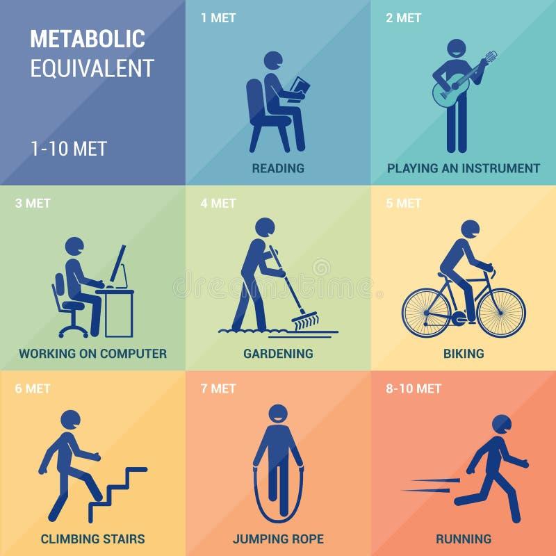 Metaboliczny odpowiednik ilustracja wektor