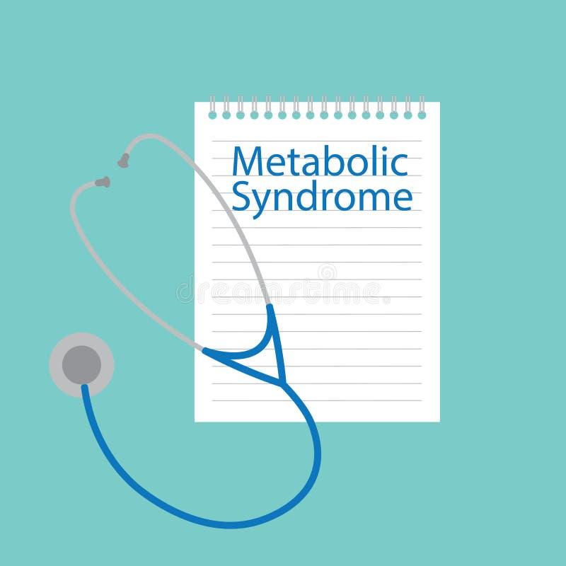 Metaboliczny syndrom pisać w notatniku ilustracja wektor